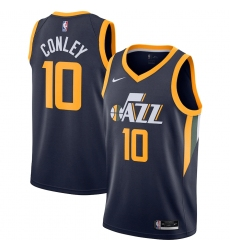 Men's Utah Jazz #10 Mike Conley Nike Navy 2020-21 Swingman Jersey
