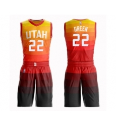 Women's Utah Jazz #22 Jeff Green Swingman Orange Basketball Suit Jersey - City Edition