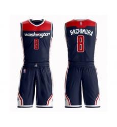 Youth Washington Wizards #8 Rui Hachimura Swingman Navy Blue Basketball Suit Jersey Statement Edition