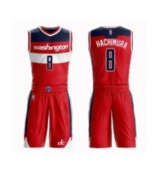 Youth Washington Wizards #8 Rui Hachimura Swingman Red Basketball Suit Jersey - Icon Edition