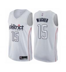 Men's Washington Wizards #15 Moritz Wagner Authentic White Basketball Jersey - City Edition