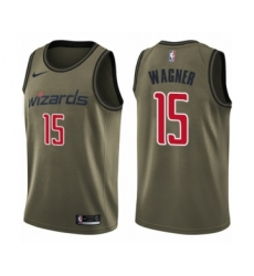 Youth Washington Wizards #15 Moritz Wagner Swingman Green Salute to Service Basketball Jersey