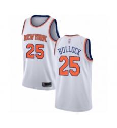 Men's New York Knicks #25 Reggie Bullock Authentic White Basketball Jersey - Association Edition
