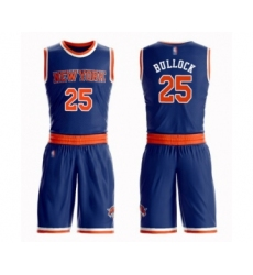 Men's New York Knicks #25 Reggie Bullock Swingman Royal Blue Basketball Suit Jersey - Icon Edition
