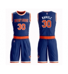 Men's New York Knicks #30 Julius Randle Swingman Royal Blue Basketball Suit Jersey - Icon Edition