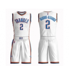 Men's Oklahoma City Thunder #2 Shai Gilgeous-Alexander Swingman White Basketball Suit Jersey - Association Edition