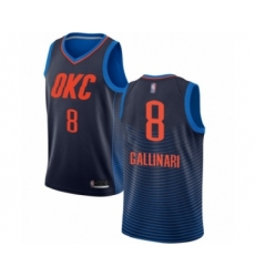 Men's Oklahoma City Thunder #8 Danilo Gallinari Authentic Navy Blue Basketball Jersey Statement Edition
