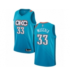 Men's Oklahoma City Thunder #33 Mike Muscala Authentic Turquoise Basketball Jersey - City Edition