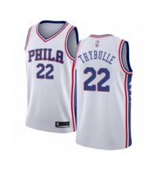 Men's Philadelphia 76ers #22 Mattise Thybulle Authentic White Basketball Jersey - Association Edition
