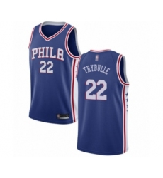 Men's Philadelphia 76ers #22 Mattise Thybulle Swingman Blue Basketball Jersey - Icon Edition