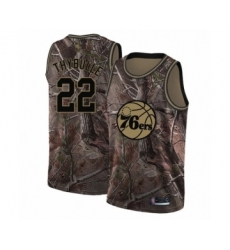 Men's Philadelphia 76ers #22 Mattise Thybulle Swingman Camo Realtree Collection Basketball Jersey