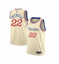 Men's Philadelphia 76ers #22 Mattise Thybulle Swingman Cream Basketball Jersey - 2019 20 City Edition