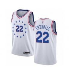 Men's Philadelphia 76ers #22 Mattise Thybulle White Swingman Jersey - Earned Edition