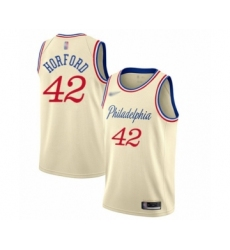 Men's Philadelphia 76ers #42 Al Horford Swingman Cream Basketball Jersey - 2019 20 City Edition