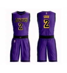 Women's Los Angeles Lakers #2 Quinn Cook Swingman Purple Basketball Suit Jersey - City Edition