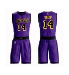 Women's Los Angeles Lakers #14 Danny Green Swingman Purple Basketball Suit Jersey - City Edition