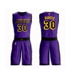 Men's Los Angeles Lakers #30 Troy Daniels Swingman Purple Basketball Suit Jersey - City Edition
