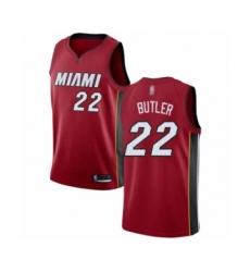 Men's Miami Heat #22 Jimmy Butler Authentic Red Basketball Jersey Statement Edition
