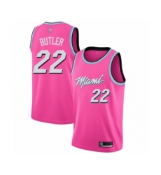 Men's Miami Heat #22 Jimmy Butler Pink Swingman Jersey - Earned Edition