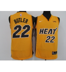 Men's Nike Miami Heat #22 Jimmy Butler Yellow Swingman Basketball Jersey