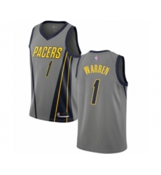 Men's Indiana Pacers #1 T.J. Warren Authentic Gray Basketball Jersey - City Edition
