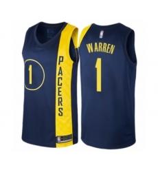 Women's Indiana Pacers #1 T.J. Warren Swingman Navy Blue Basketball Jersey - City Edition