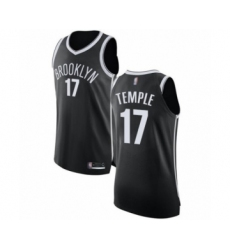Men's Brooklyn Nets #17 Garrett Temple Authentic Black Basketball Jersey - Icon Edition