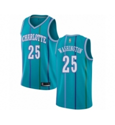 Men's Jordan Charlotte Hornets #25 PJ Washington Authentic Aqua Hardwood Classics Basketball Jersey