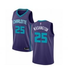 Men's Jordan Charlotte Hornets #25 PJ Washington Authentic Purple Basketball Jersey Statement Edition