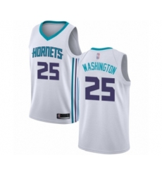Men's Jordan Charlotte Hornets #25 PJ Washington Authentic White Basketball Jersey - Association Edition