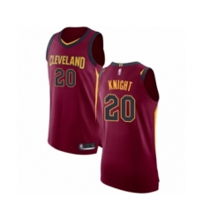 Men's Cleveland Cavaliers #20 Brandon Knight Authentic Maroon Basketball Jersey - Icon Edition