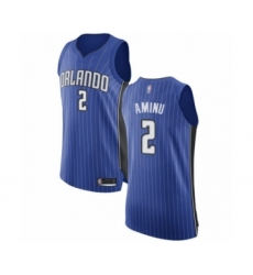 Men's Orlando Magic #2 Al-Farouq Aminu Authentic Royal Blue Basketball Jersey - Icon Edition