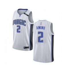 Men's Orlando Magic #2 Al-Farouq Aminu Authentic White Basketball Jersey - Association Edition