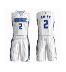 Men's Orlando Magic #2 Al-Farouq Aminu Swingman White Basketball Suit Jersey - Association Edition