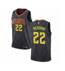 Men's Atlanta Hawks #22 Cam Reddish Authentic Black Basketball Jersey - Icon Edition
