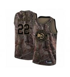 Men's Atlanta Hawks #22 Cam Reddish Swingman Camo Realtree Collection Basketball Jersey