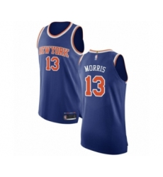 Men's New York Knicks #13 Marcus Morris Authentic Royal Blue Basketball Jersey - Icon Edition