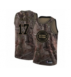 Men's Detroit Pistons #17 Tony Snell Swingman Camo Realtree Collection Basketball Jersey