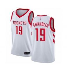 Men's Houston Rockets #19 Tyson Chandler Authentic White Basketball Jersey - Association Edition
