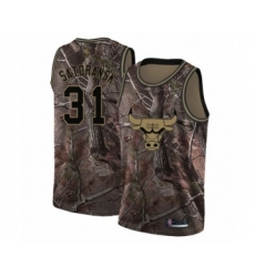 Men's Chicago Bulls #31 Tomas Satoransky Swingman Camo Realtree Collection Basketball Jersey