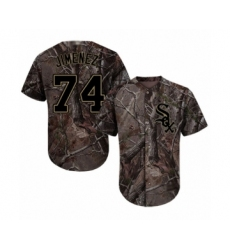 Men's Chicago White Sox #74 Eloy Jimenez Authentic Camo Realtree Collection Flex Base Baseball Jersey
