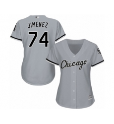 Women's Chicago White Sox #74 Eloy Jimenez Authentic Grey Road Cool Base Baseball Jersey