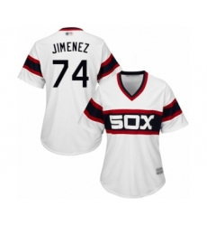 Women's Chicago White Sox #74 Eloy Jimenez Authentic White 2013 Alternate Home Cool Base Baseball Jersey