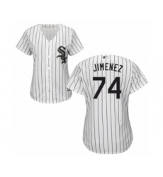Women's Chicago White Sox #74 Eloy Jimenez Authentic White Home Cool Base Baseball Jersey