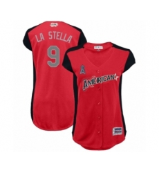 Women's Los Angeles Angels of Anaheim #9 Tommy La Stella Authentic White Home Cool Base Baseball Jersey