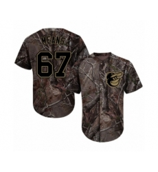 Men's Baltimore Orioles #67 John Means Authentic Camo Realtree Collection Flex Base Baseball Jersey