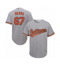 Men's Baltimore Orioles #67 John Means Replica Grey Road Cool Base Baseball Jersey