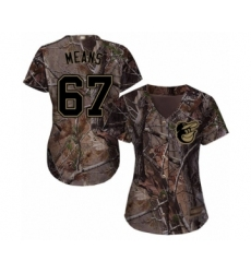 Women's Baltimore Orioles #67 John Means Authentic Camo Realtree Collection Flex Base Baseball Jersey