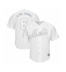 Men's New York Mets #6 Jeff McNeil  Flying Squirrel  Authentic White 2019 Players Weekend Baseball Jersey