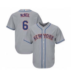 Men's New York Mets #6 Jeff McNeil Replica Grey Road Cool Base Baseball Jersey
